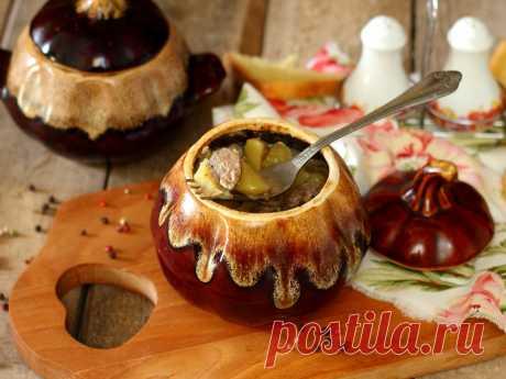Печень с картошкой в горшочке Рагу из картофеля и свиной печени в горшочках, отличный и простой в приготовлении ужин или обед на каждый день.