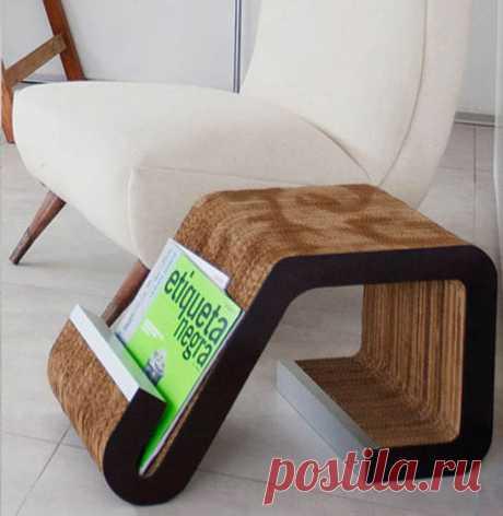 Мебель из картона: выкройки и видео — Всё самое интересное!