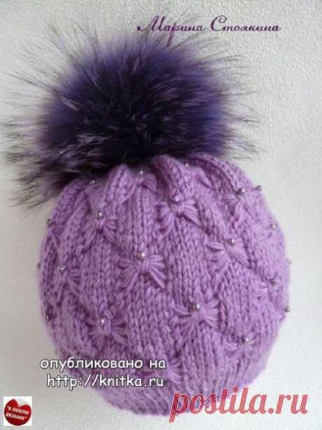 Эффектная зимняя шапочка. Автор: Марина Стоякина