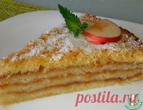 Болгарский насыпной яблочный пирог –