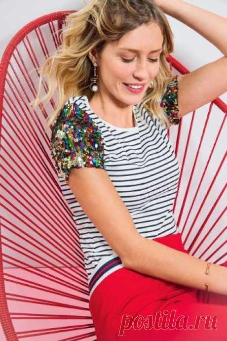 Декорируем обычную футболку пайетками — Мастер-классы на BurdaStyle.ru