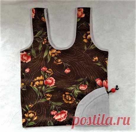 СУМКИ. Хозяйственная сумка с конусообразным карманчиком. | Ручная работа, сделано с любовью | Яндекс Дзен