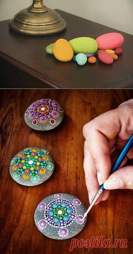 Камни, краски и неожиданный МК.