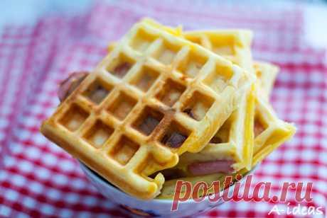 Бельгийские вафли с ветчиной и сыром - Блог Одной Мамы