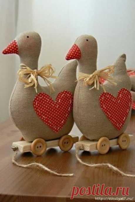 Гуси красивые с выкройками Гуси красивые с выкройками  #секретымастеров #handmade #игрушки