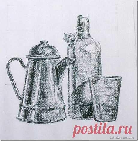 Рисуем натюрморт простым карандашом