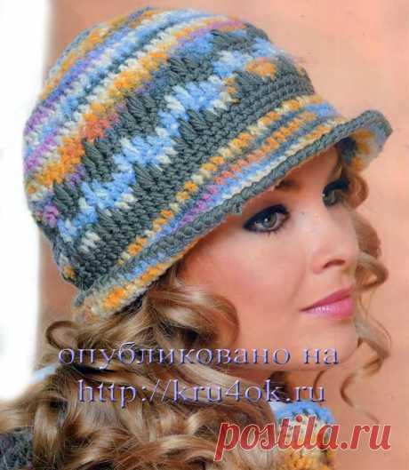 Разноцветная шляпка