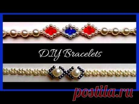 Beaded bracelet patterns. How to make bracelets with beads.