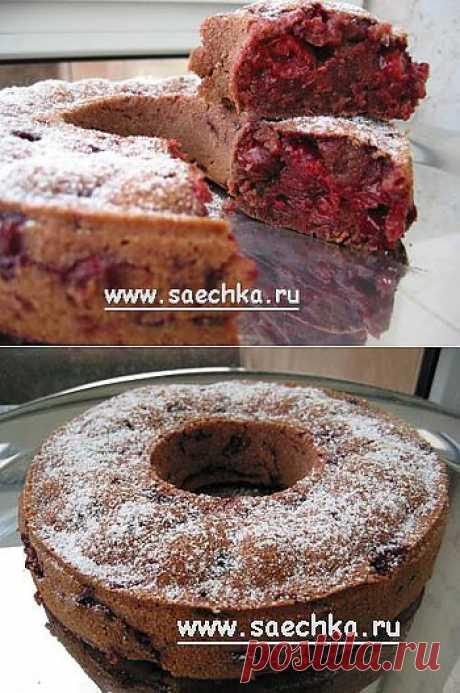 Постный вишнево-шоколадный кекс | рецепты на Saechka.Ru