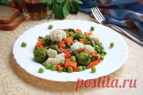Замороженные овощи в духовке рецепт с фото - 1000.menu