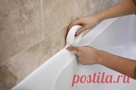 Что делать, если бордюр на стыке ванной и плитки желтеет или зарастает грибком