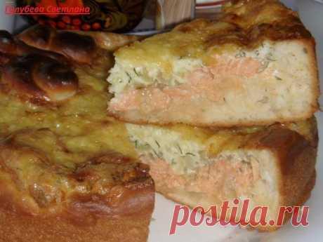 """Пирог """"Рыбка в сырном соусе"""""""