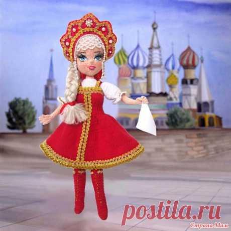 Кукла крючком в русском наряде - Вязание - Страна Мам