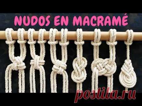 6 nuevos NUDOS en MACRAMÉ (paso a paso) | 6 New Macrame Knots