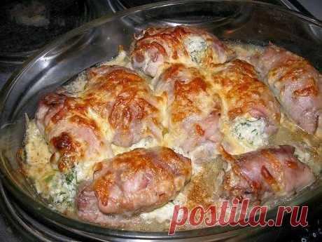 шеф-повар Одноклассники: Куриные рулетики, фаршированные яйцом, сыром и зеленью