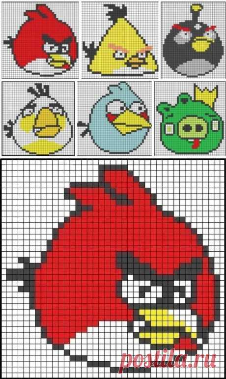 "Семы для вышивания ""Angry Birds"""