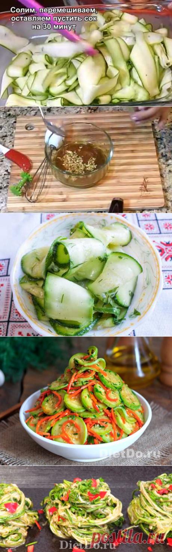 Маринованные кабачки мгновенного поедания — 4 рецепта за 2 часа