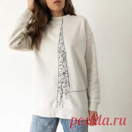 Простая вышивка, преображающая одежду: рукодельный instagram недели — Мастер-классы на BurdaStyle.ru