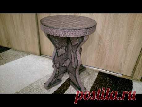 Табуретка, стул из картона своими руками.Chair out of cardboard