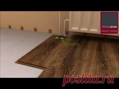 La tecnología de la colocación laminata. Evidente el vídeo la instrucción.