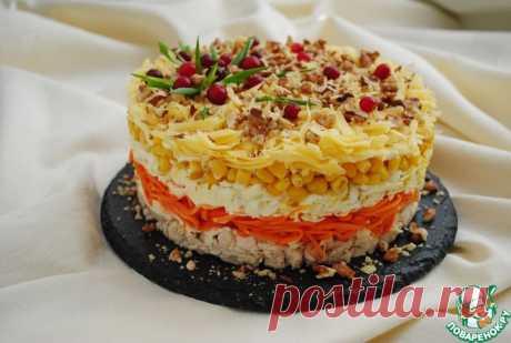 """Слоёный салат """"Фантазия"""" на праздничный стол Кулинарный рецепт"""