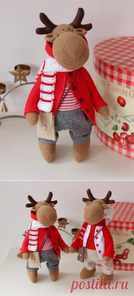 Рождественский олень. Выкройка