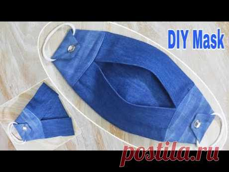 DIY Mask   Your Own Masks Easily From Jeans   Reuse Old Clothes   DIY Jeans