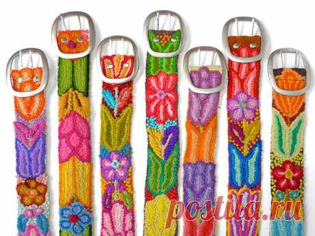 Вышивка перуанских индейцев: цветы с высокогорий Анд – Ярмарка Мастеров