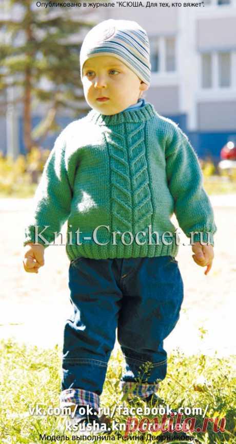 Пуловер детский на спицах.