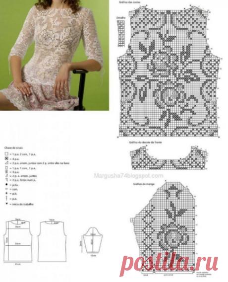 Филейное вязание. 6 моделей и схем к ним. | Дневник многодетной мамы | Яндекс Дзен