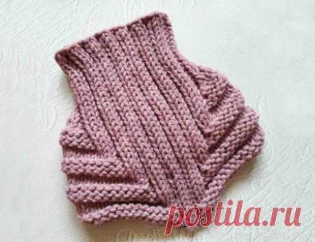Манишка вместо шарфа спицами » «Хомяк55» - всё о вязании спицами и крючком