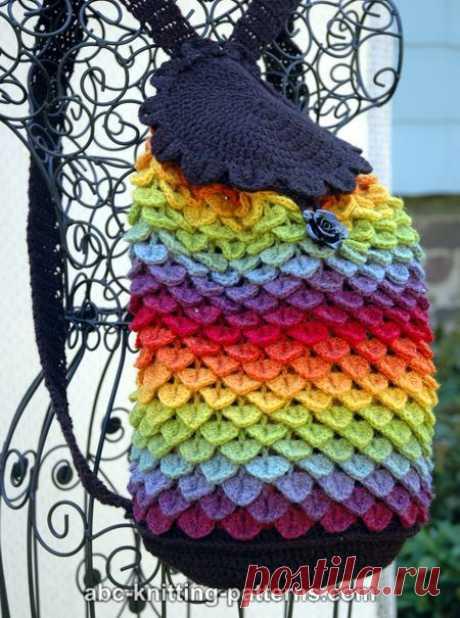 Идеи для творчества. Интересный узор крючком «Крокодилья кожа». Крючки для вязания Clover, PONY, KnitPro в наличии.