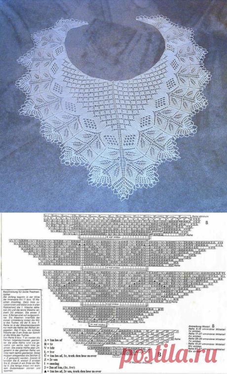 Нежная шаль спицами описание. Воздушная шаль спицами схемы | Лаборатория домашнего хозяйства