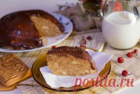 Быстрый торт из печенья (без выпечки)