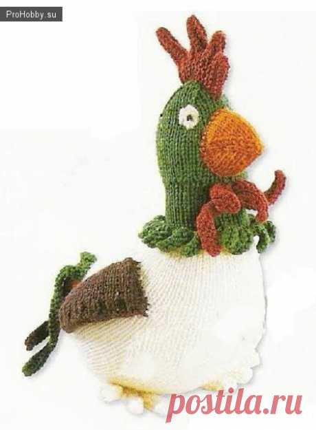We knit a cockerel spokes to Easter \/ Knitting by spokes and hook \/ ProHobby.su | Share the hobby with the world