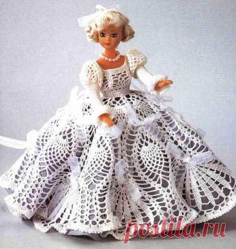 Шикарное платье крючком для куклы. / Вязаные игрушки. Мастер-классы, схемы, описание. / PassionForum - мастер-классы по рукоделию