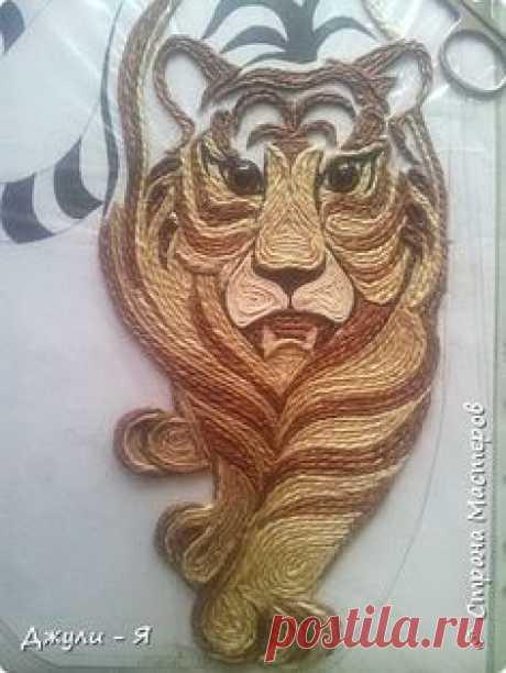 """Привет всем Мастерам и Мастерицам и просто гостям!!! А вот моя 2 часть """"Африки"""" !!! Ну какая Африка без тигра а дом без ключницы??!!)) И вот небольшой МК! фото 11"""
