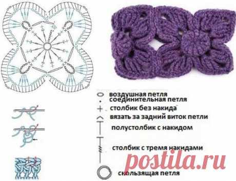 Несколько идей для повязки на голову крючком. Схемы | Сашка-Вязашка | Яндекс Дзен