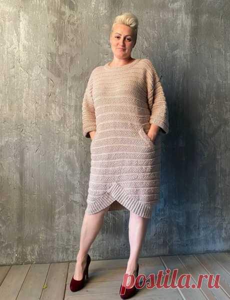 Платье Шанель спицами