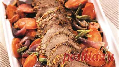 Ростбиф с корочкой из горчицы, пошаговый рецепт с фото Ростбиф с корочкой из горчицы. Пошаговый рецепт с фото, удобный поиск рецептов на Gastronom.ru