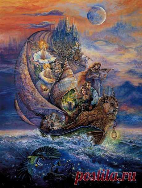 Волшебные сны от Josephine Wall - запись пользователя veda (Елена Бельская) в сообществе Картинки для творчества в категории Женский образ