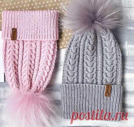 3 красивые шапки с узорами «косы» и «жгуты» (с описанием) | Идеи рукоделия | Яндекс Дзен