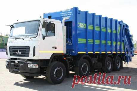 В России сделали грузовик, куда влезет 2,5 вагона мусора | Журнал Популярная Механика