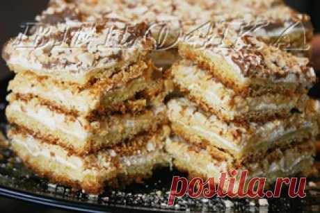"""Торт """"Воздушный сникерс"""" - кулинарный рецепт"""