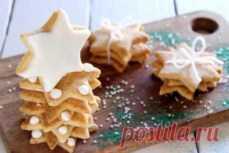 Новогоднее печенье , 38 рецептов печенья на новый год с фото