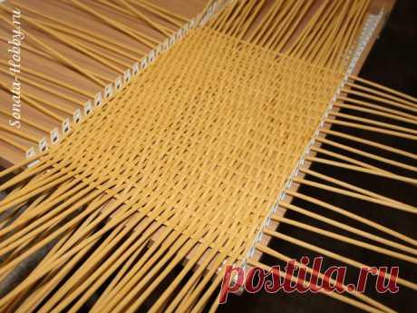 Устройство для плетения дна. Мастер-класс. Плетение из газет
