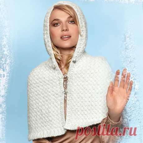 Вязаный кейп с косами для женщин спицами – 7 моделей со схемами и описанием — Пошивчик одежды