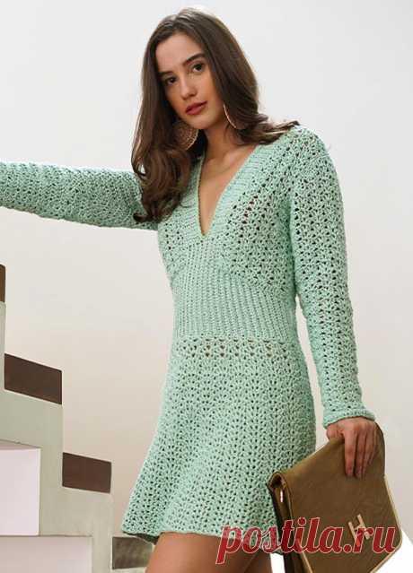 Vestido de Crochê Verde Menta com Fio Cisne Chic - Blog do Bazar Horizonte