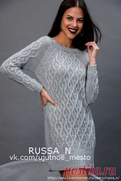 Платье-туника спицами(узор)