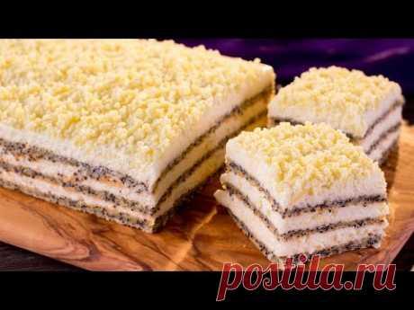 3 пышных коржа и много белого шоколада. Пирожное, которое тает во рту! | Appetitno.TV